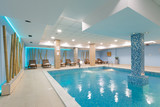 Indoor swimming pool in hotel spa center - 176054574