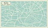 Berlin Germany Map in Retro Style. - 176055322