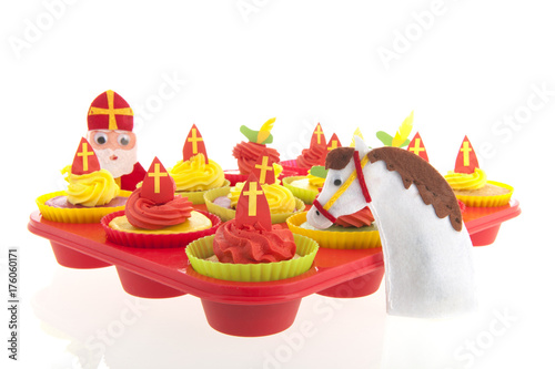 Dutch Sinterklaas cupcakes Poster