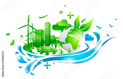 Sticker Ville & Développements durable