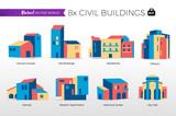 Case popolari e edifici del centro storico - 176063923
