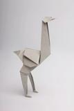 Origami ostrich gray - 176063965