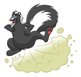 Cartoon farting skunk