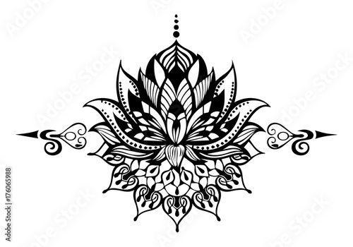 Mandala flower. Coloring element for relaxing.