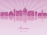 Rzeszow skyline in purple radiant orchid - 176066932