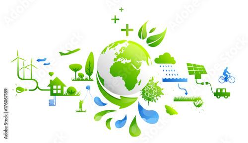 Papiers peints Blanc Développement durable