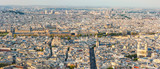 Paris skyline panorama aerial view in daylight, France