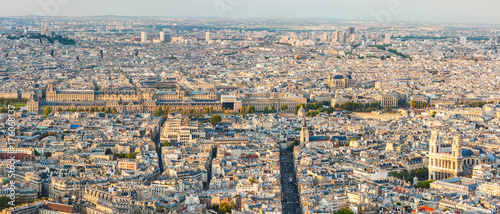Papiers peints Paris Paris skyline panorama aerial view in daylight, France