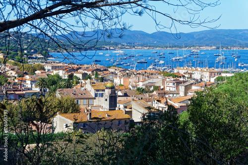 Fotobehang Landschappen Paysage ville Saint-Tropez