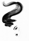 Hairstylist and makeup. Fashion illustration. Beautiful woman  - 176069737