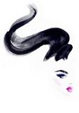 Hairstylist and makeup. Fashion illustration. Beautiful woman  - 176069794