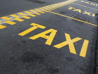 Fahrbahnmarkierung: Haltespur für Taxis