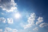 blue sunny cloud sky - 176070990