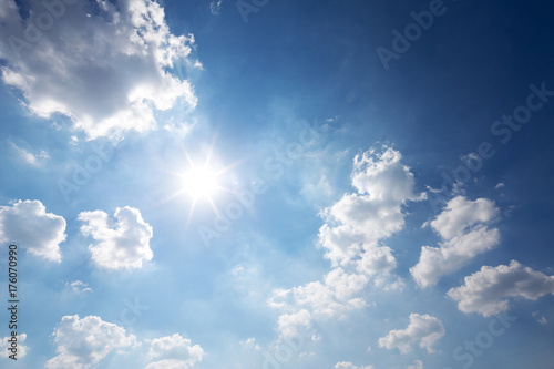 Foto Murales blue sunny cloud sky