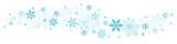 Blue Snowflakes Border - 176071538