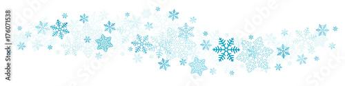 Granica niebieski płatki śniegu