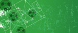 Soccer / Football design templatewith strategy drawing,,free copy space, vector