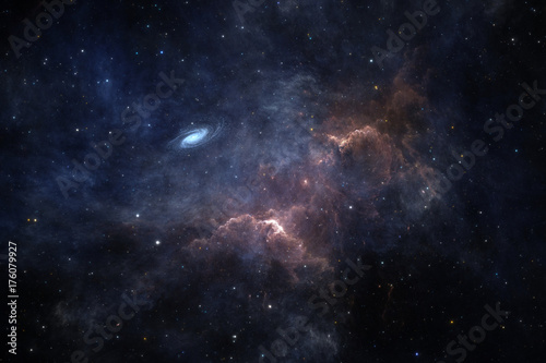 Space background with nebula and stars