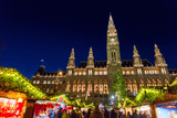 Christmas market in Vienna - 176082371