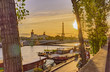 Autumn panorama of the city of Paris in France