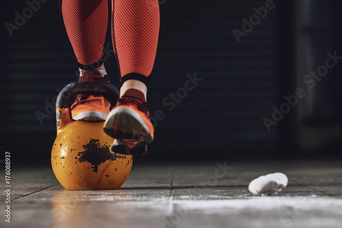 Training with kettlebell