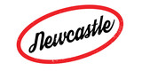 Newcastle rubber stamp. Grunge design with dust scratches. Effects can be easily removed for a clean, crisp look. Color is easily changed. - 176089134