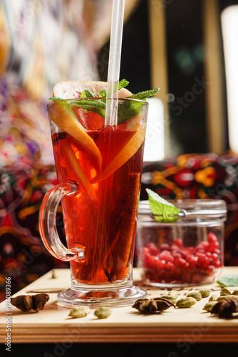 Papiers peints Cafe berry winter tea
