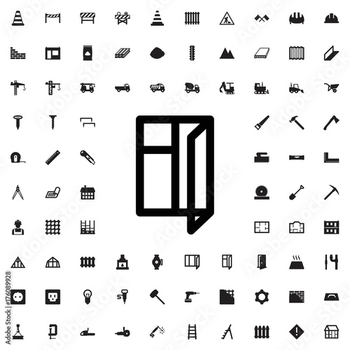 Window icon. set of filled construction icons. - 176089928