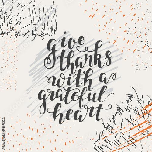 Plakát Thanksgiving day lettering