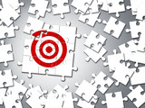Target business concept of jigsaw puzzle - 176094901