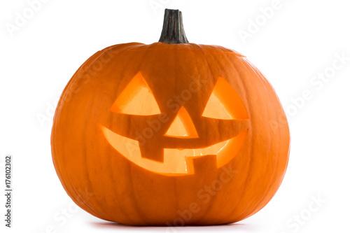 Halloween Pumpkin on white - 176102302