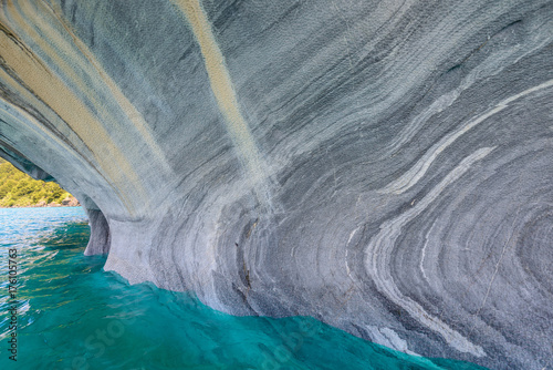 Marble Caves of lake General Carrera, Chile Poster