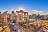 Rome sunrise city skyline at Rome Forum (Roman Forum), Rome, Italy - 176106362