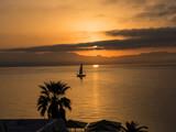 Sunrise over the Bay at Corfu Town on the Greek island of Corfu - 176121347