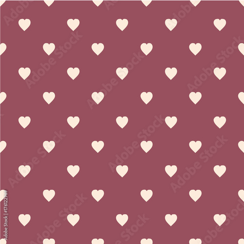 Pattern with hearts. Flat Scandinavian style for print on fabric, gift wrap, web backgrounds - 176122969