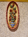 Traditional Spanish colorful ceramic wall decoration - 176125978