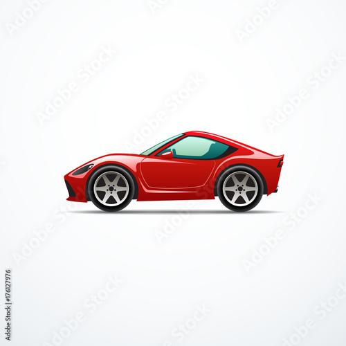 Fotobehang Auto Vector cartoon sport car