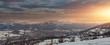 Beautiful panoramic view of Polish mountains and the zakopane city