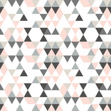 Geometric abstract pattern with triangles in muted  retro colors. - 176129965