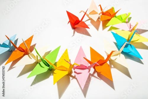 Fotobehang Zwaan Origami.