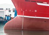 Schiffsbug mit Tiefganganzeige - 176135114