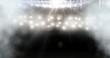 Quadro american football stadium with spotlights