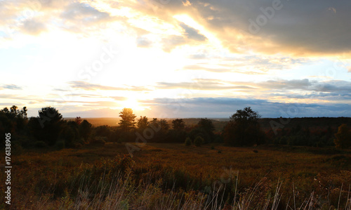Foto op Aluminium Chocoladebruin Sunset in the Catskills