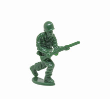 Miniature Toy Soldier   Closeup Sticker
