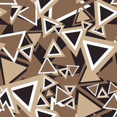 Triangle Background Pattern. Repeating Triangle Vector Pattern. Cute Triangle Seamless Background