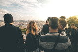 People enjoying the View from Montmartre - Paris