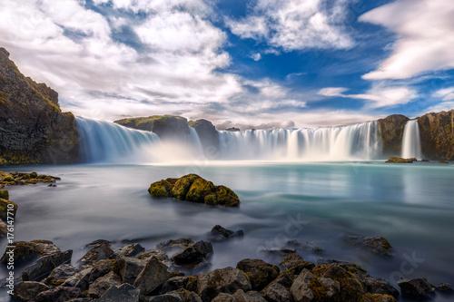Amazing Godafoss waterfall - 176147710