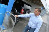 man carefully clean his car mats - 176151774