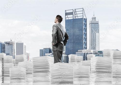 Successful confident businessman in suit. - 176158734