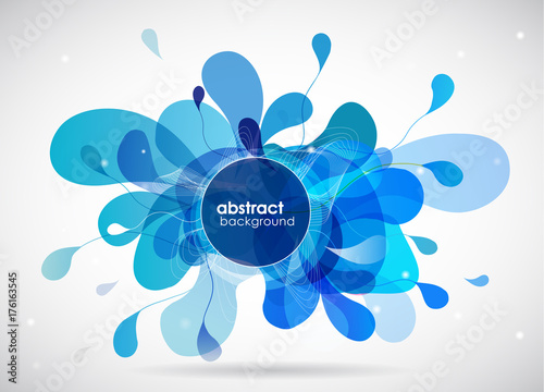 Fotobehang Abstractie Abstract colored background with different shapes.